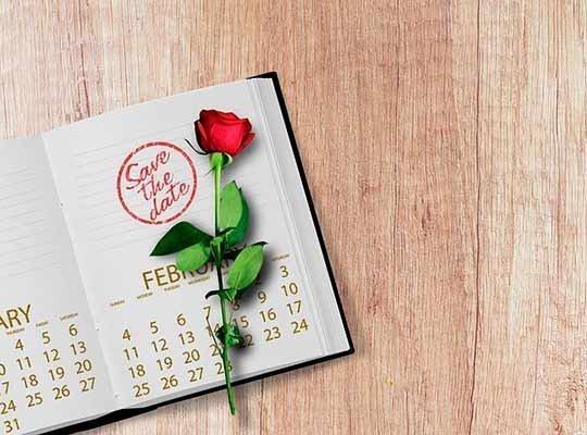 Даты для свадьбы 2019