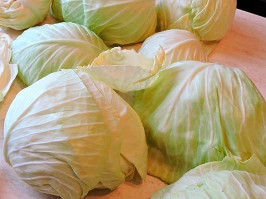 снять листья с капусты