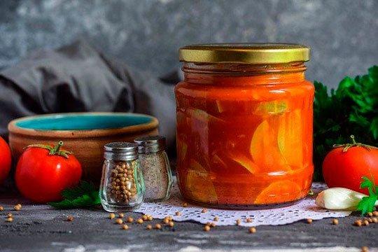 кабачки на зиму в томатной пасте