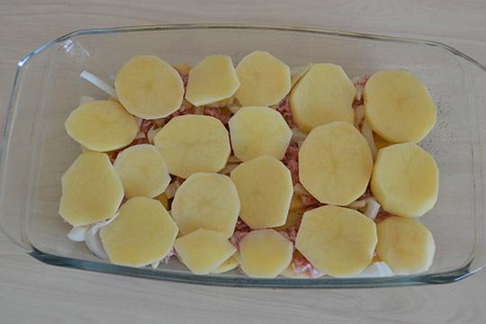 последний слой - картофель