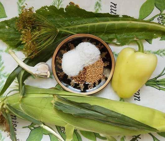 ингредиенты для маринованной кукурузы
