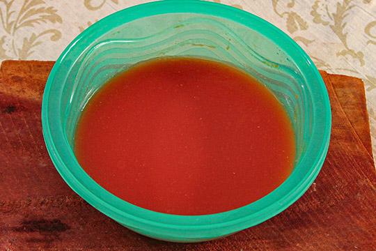 томаты с перцем перемалываем в пюре