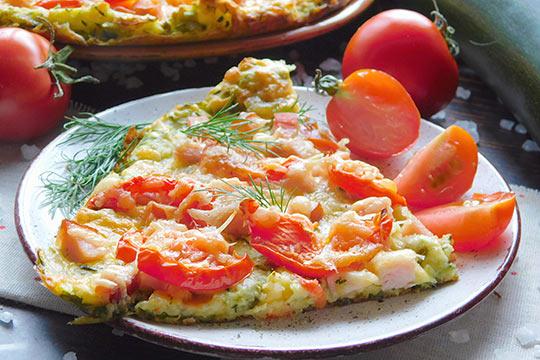 пицца из кабачков в духовке готова