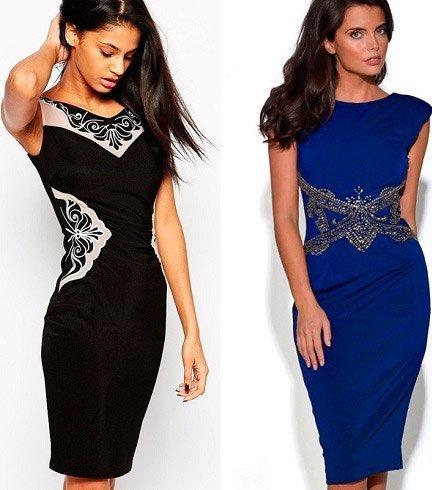 Платья комбинирование цвета