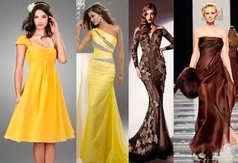 Желтые платья на Новый год