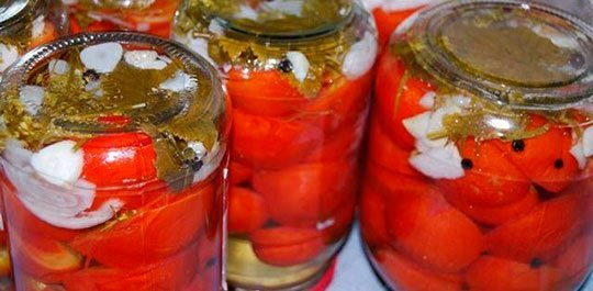 помидоры без стерилизации