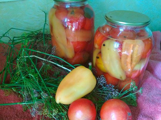 помидорчики готовы