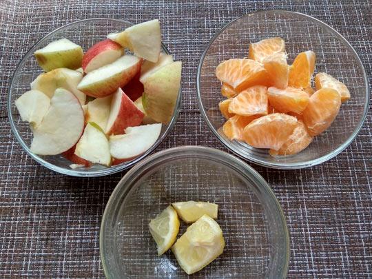 фрукты нарезать