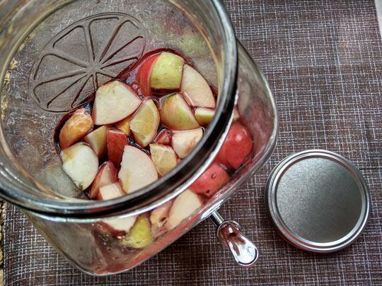 добавить фрукты в алкоголь