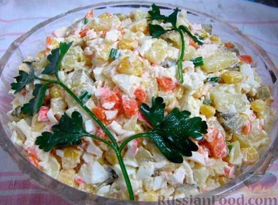 крабовый салат Оливье