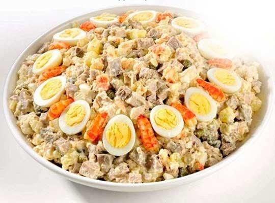 ингредиенты салата Оливье