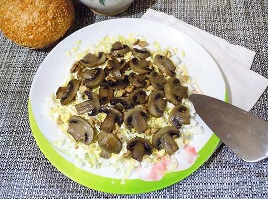 грибы верхний слой
