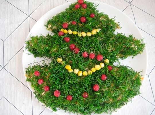 Салат с майонезом на Новый год