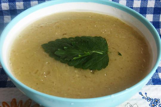 суп подавать с зеленью