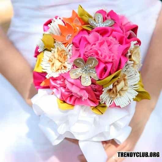 букет невесты хендмейд