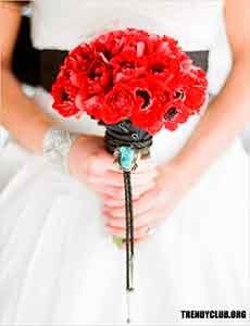 свадебные букеты маки