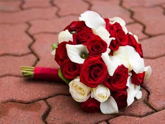 свадебные букеты розы