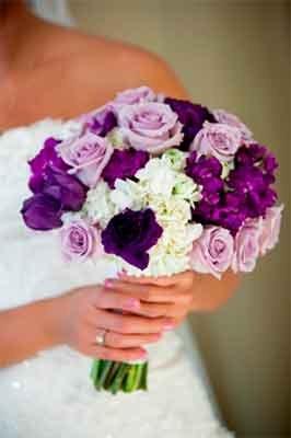 свадебный букет капля
