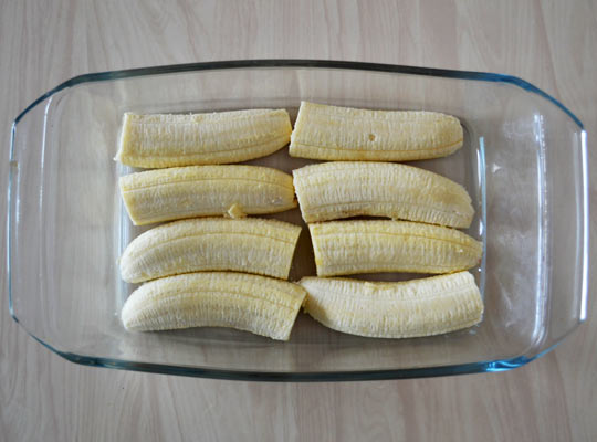 бананы выложить в форму