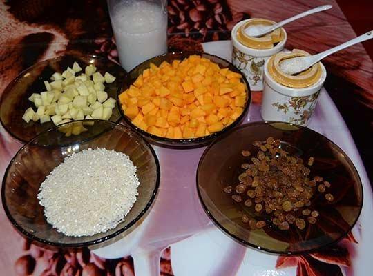 ингредиенты тыквенной каши