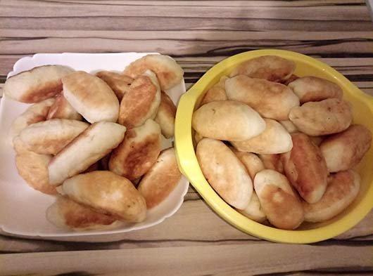 Жареные пирожки с капустой на воде рецепт без дрожжей 104